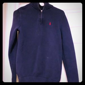 XL (18/20) boys vintage Polo navy blue sweater